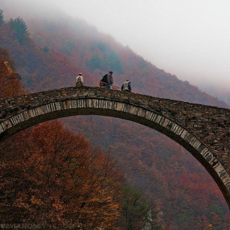 Fishermen at Devil's Bridge, Rhodope Mountains, Bulgaria