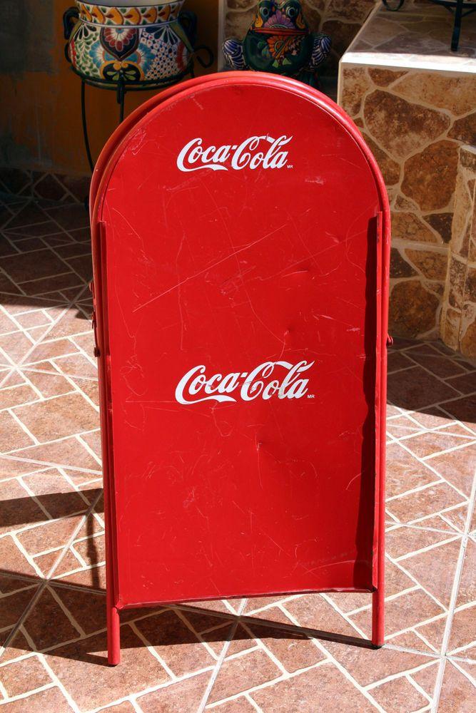 Vintage Coca Cola Street Advertising Display Sign #CocaCola
