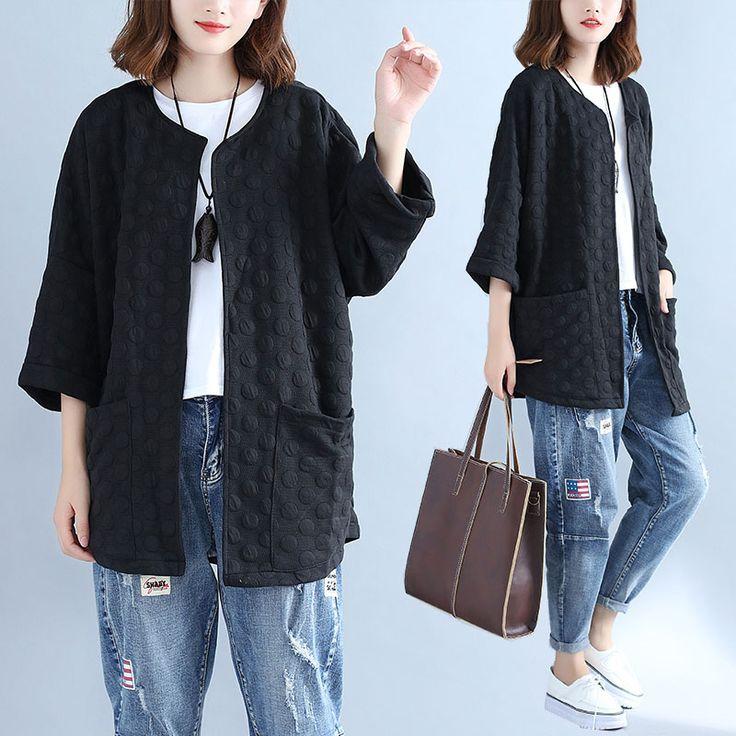 Крупный женский жирный сестра с длинными волосами в длинной секции 200 кг жира мм Корейский свободный случайный дикий хлопок - Taobao