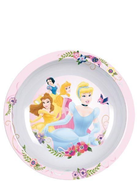 Näppärä ja kaunis Prinsessat-lautanen ilahduttaa pieniä prinsessoja ja tekee arkisesta välipalahetkestäkin juhlaa. Syvä lautanen on valmistettu melamiinista, ja sen voi turvallisesti pestä astianpesukoneessa. Koko 20 cm x 3,5 cm.
