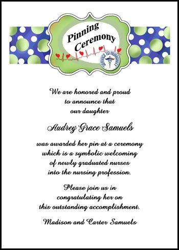 219 best wordings sayings verses for invitations announcements cardsshoppe created and maintains a gigantic database of exclusive nurse pinning ceremony invitation and stopboris Image collections