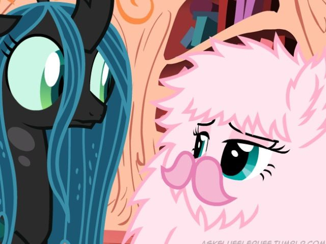 Fluffle Puff is me being the weird person I am and QC is everyone else knowing I'm crazy