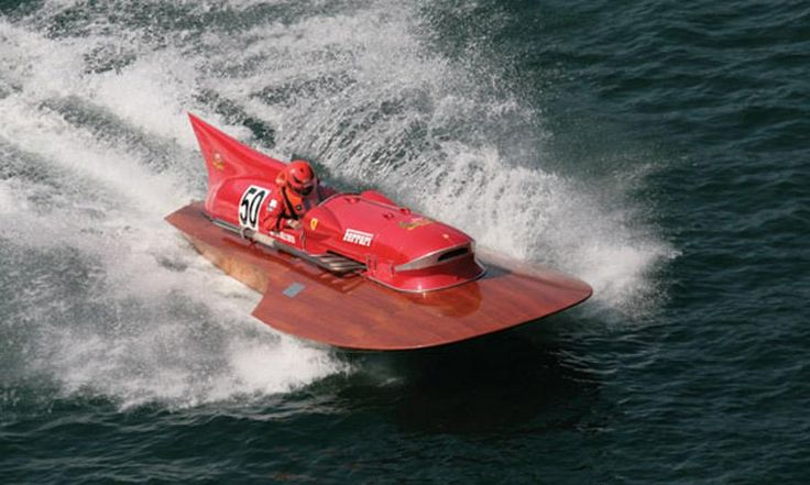 A Ferrari-powered boat from 1953! Gotta have it