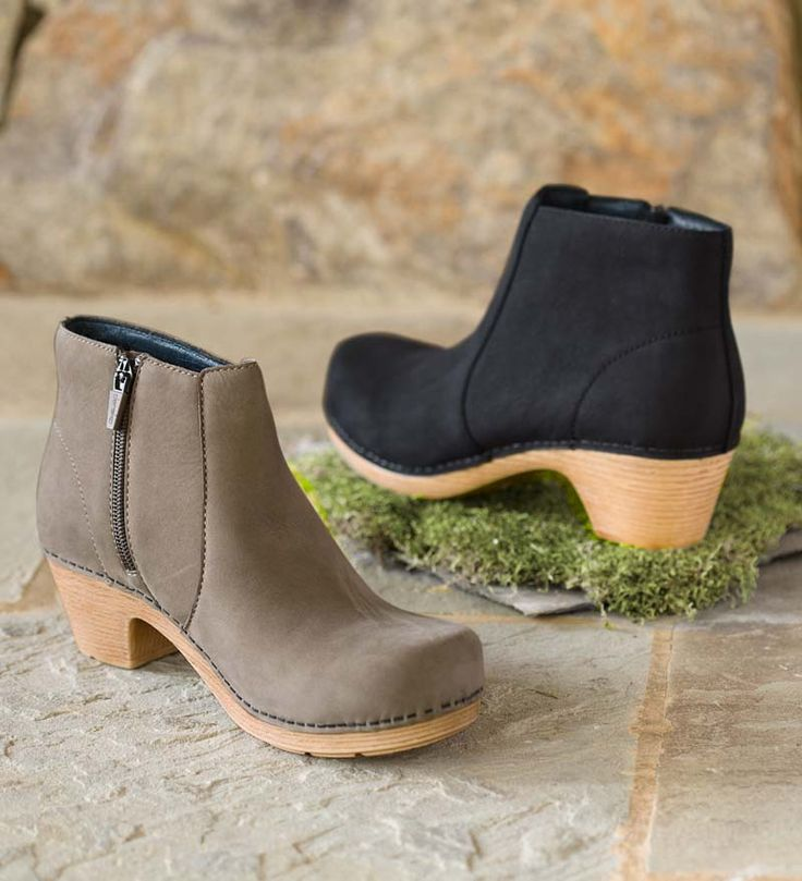 Dansko® Maria Ankle Boots with side zip and 2