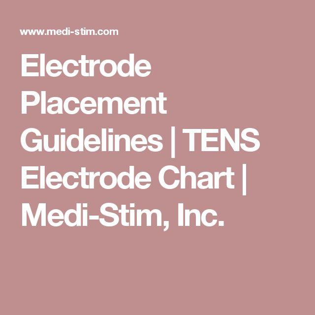 15 Best Tens Electrode Images On Pinterest Fibromyalgia