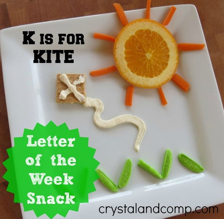 Letter Of The Week Snack: K Is For Kite