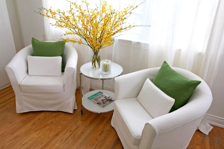 Additional modern seating rounds off the bedroom with the perfect little corner to wind down with a book or a glass of wine.