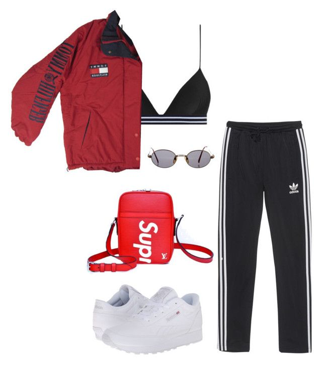 """""""Untitled #7644"""" by ijustlikefashionman ❤ liked on Polyvore featuring Zimmermann, adidas Originals, Reebok, Louis Vuitton and Jean-Paul Gaultier"""