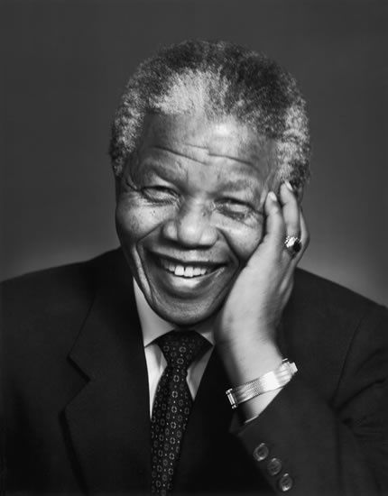 Nelson Mandela (1918-2013) South African anti-apartheid revolutionary, politician, and philanthropist