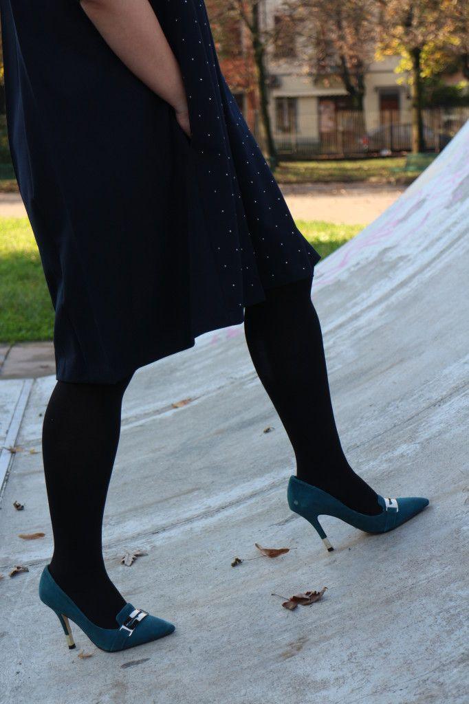 Zapatos azul eléctrico de ante