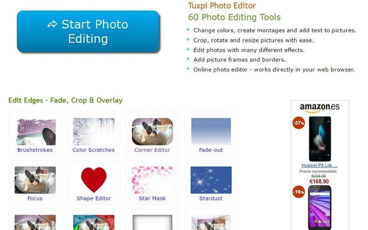 Tuxpi es una excelente página que reúne un total de 60 herramientas gratuitas para editar imágenes online y sin necesidad de registro.