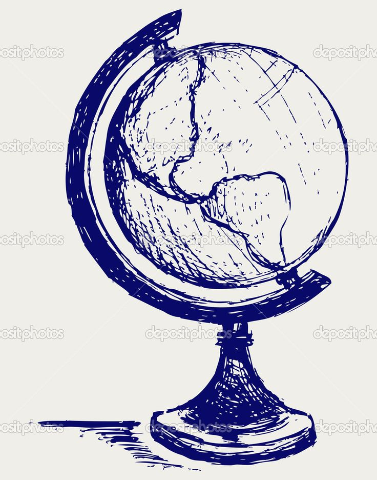 Globe sketch — Stock Photo © Kreativ #