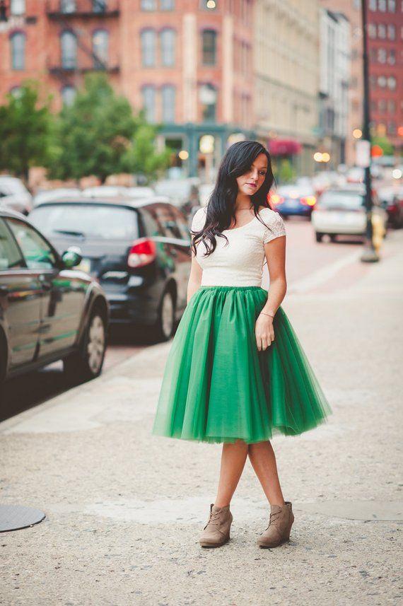 362491b5c Tulle skirt, adult tutu, adult green tutu, womens tulle skirt, adult tulle