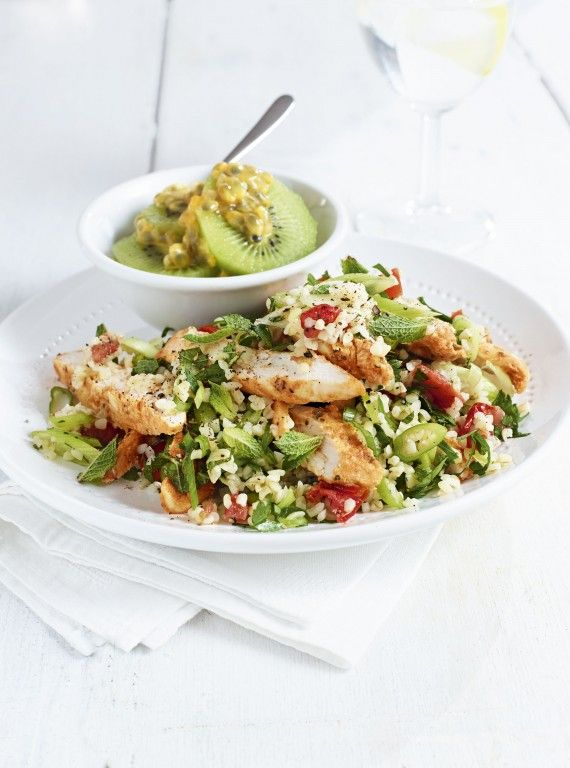 Flat tummy dinners: Chicken and bulgar wheat salad