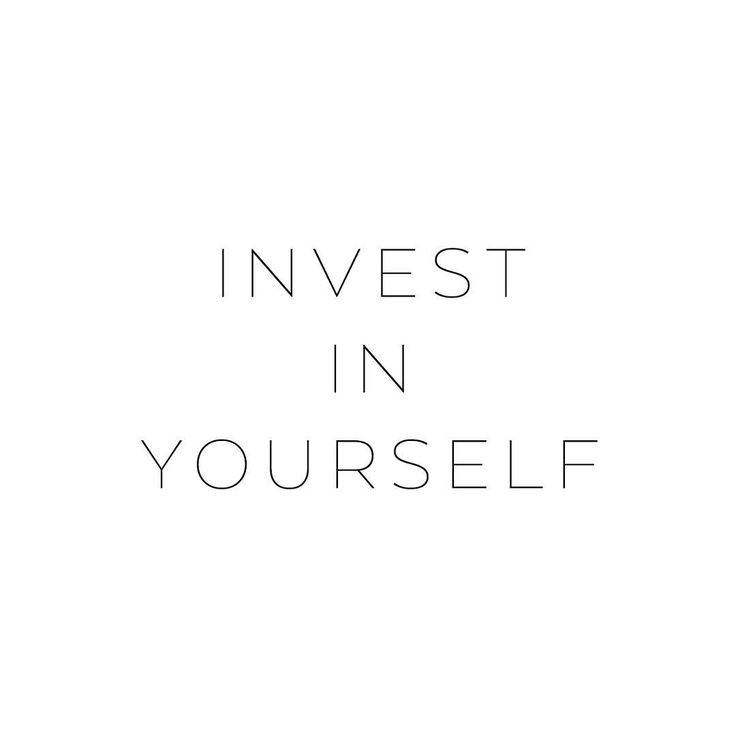 Invest in yourself ♡ • #mapsandletters_motto
