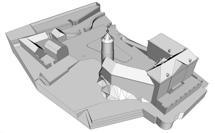 Chateau de Chokier - modele sketchup