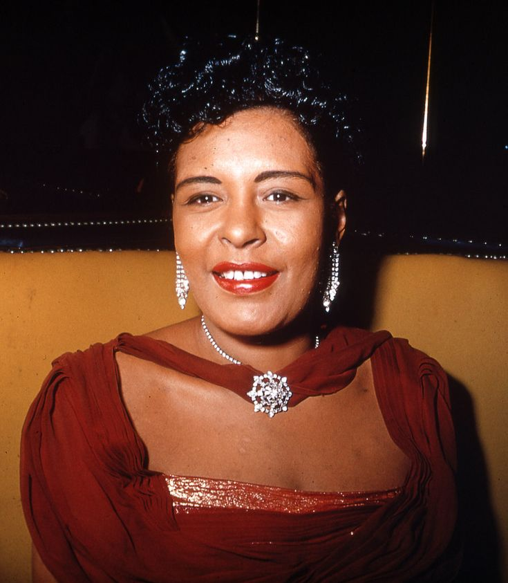 Billy Holiday around 1950. (From Images of Jazz Greats - Slide Show - NYTimes.com ... the color images humanize iconic figures we know mostly in black and white.)