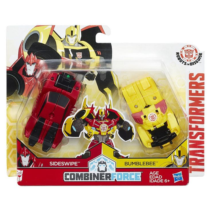 What happens when you crash and combine forces with Transformers: Robots in Disguise Bumblebee and Sideswipe figures? No, not a traffic jam. You get a 2-bot Beeside Crash Combiner figure!<br><br>This Crash Combiner 2-pack features one Bumblebee figure and one Sideswipe figure. Crash these figures together in one awesome step to form a Beeside combiner robot. Crash these figures with other Crash Combiner figures to form different 2-bot combinations. The Bumblebee figure and Sideswi...