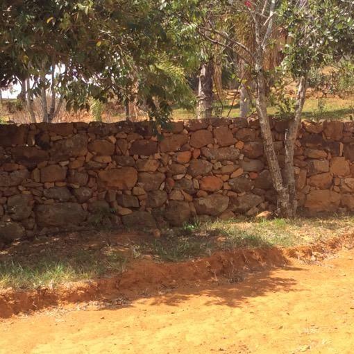 Cercas de piedra en el recorrido Villanueva a Barichara Santander Colombia
