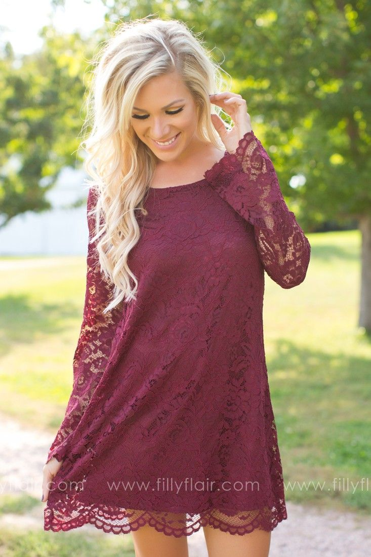 25 best ideas about fall dresses on pinterest dressy for Casual winter wedding dresses with sleeves