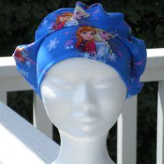 Turban bonnet béret chapeau chimio enfant imprimé princesse