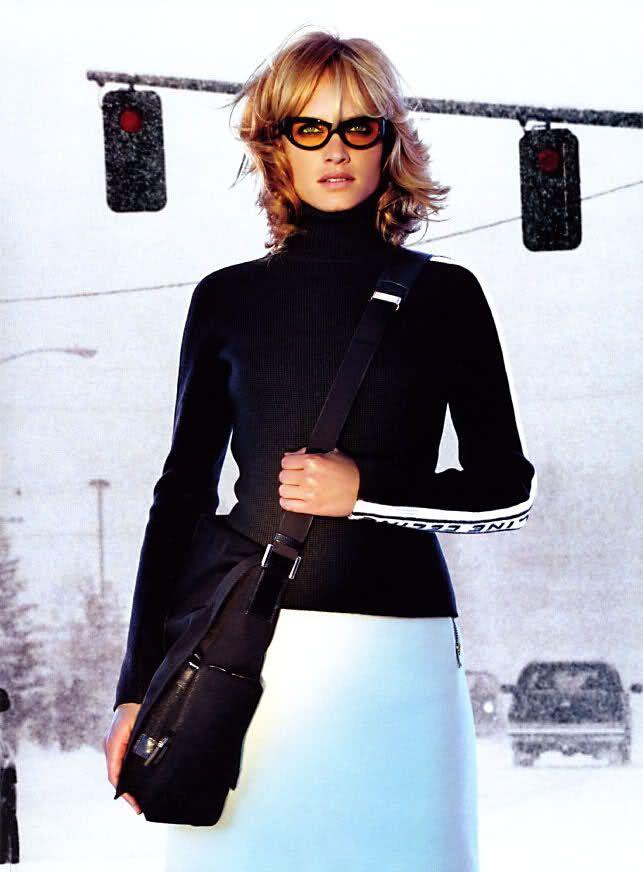 ☆ Amber Valletta | Photography by Raymond Meier | For Vogue Magazine US | October 1999 ☆ #ambervalletta #raymondmeier #vogue #1999