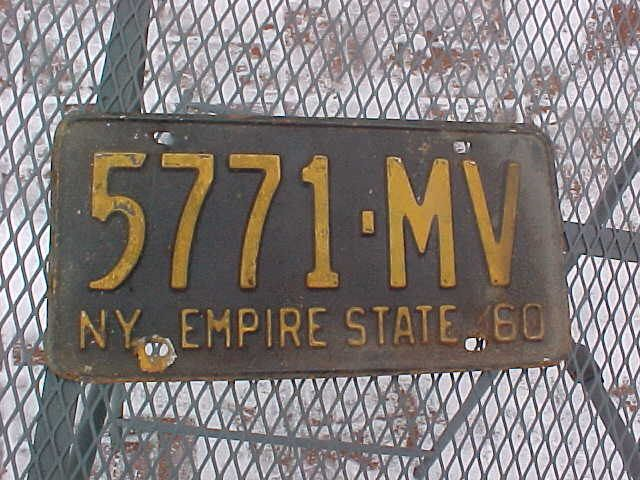 1960 New York NY State Passenger Car License Plate 5771-MV Rare Rugged Road Worn Americana Decor Rat Rod Swap Meet Garage Swag Wall Hanger by TJMARZ on Etsy https://www.etsy.com/listing/497390116/1960-new-york-ny-state-passenger-car