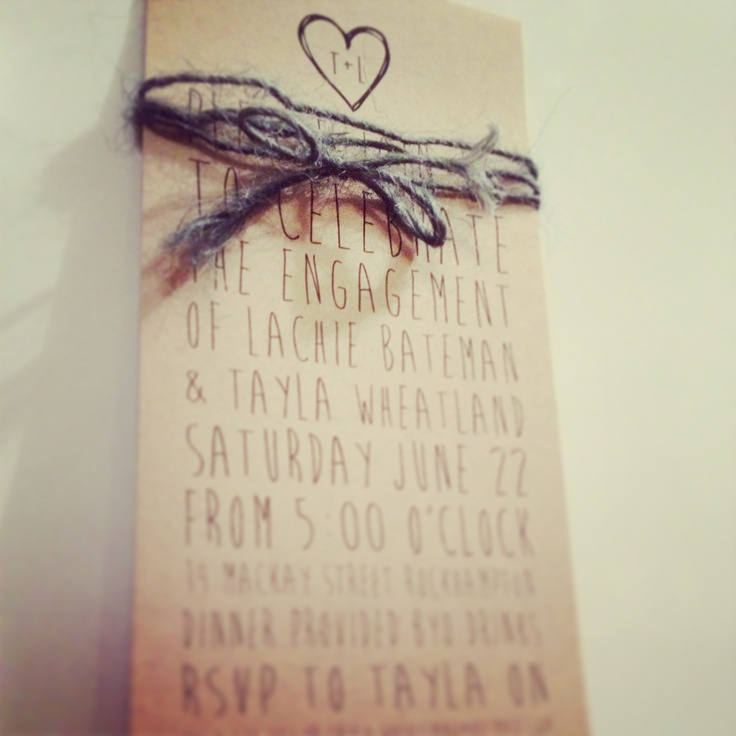 engagement invitations by me!