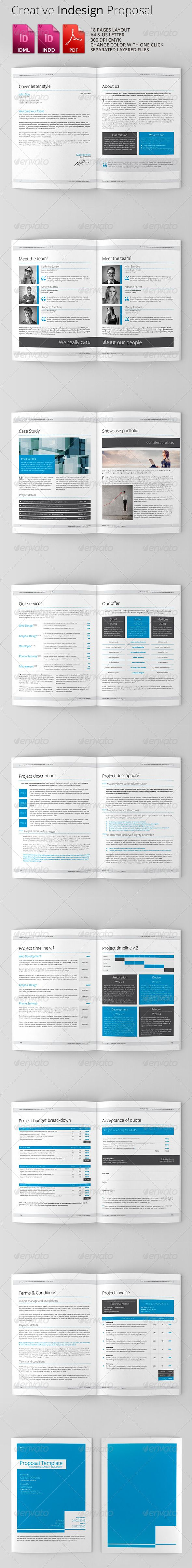 Clean & Creative Indesign Proposal - Proposals & Invoices Stationery