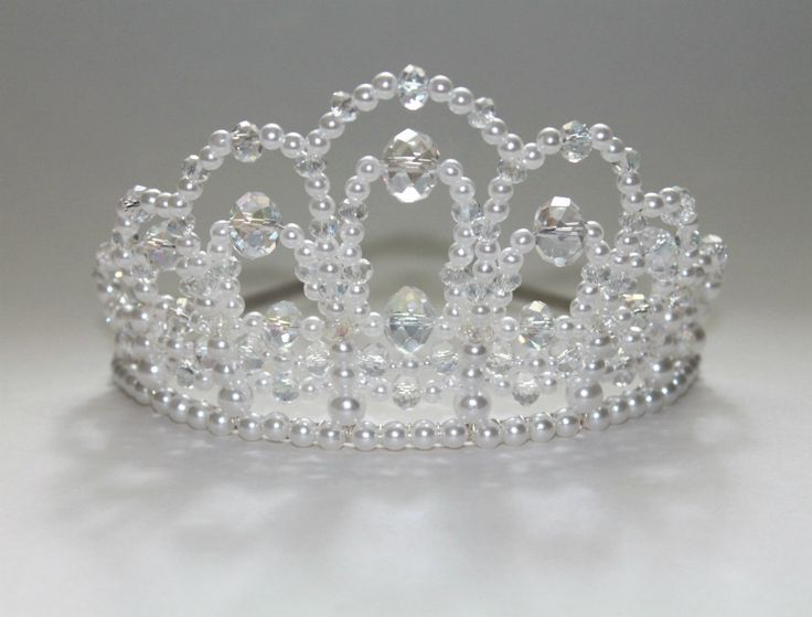 A True Diva Crystal and Pearl Tiara Bridal by CreativeCalling1