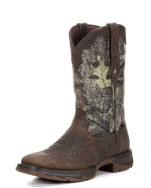 Durango Cowgirl Boots, Square Toe. Womens flirt camo cutie western- Brown