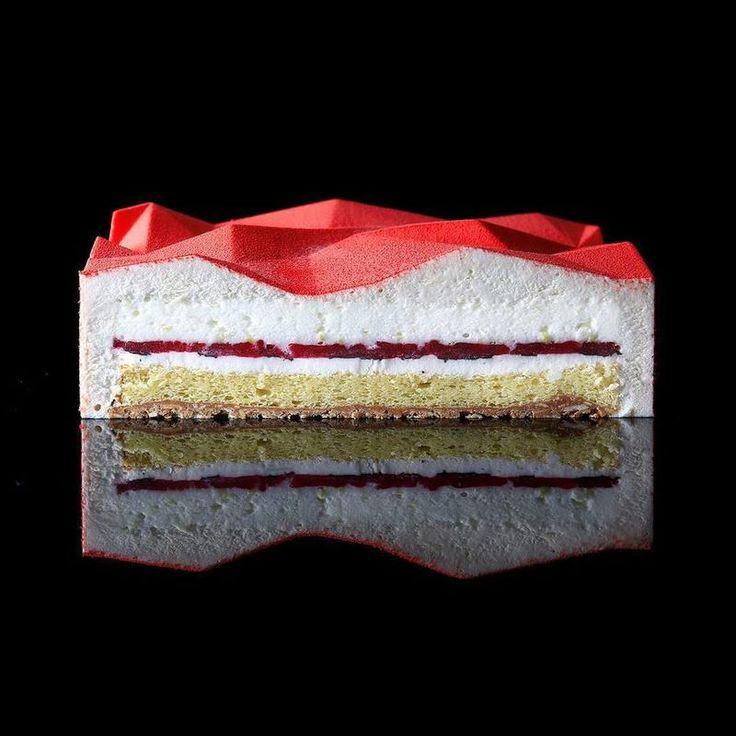 Sculptural Dessert - geometric