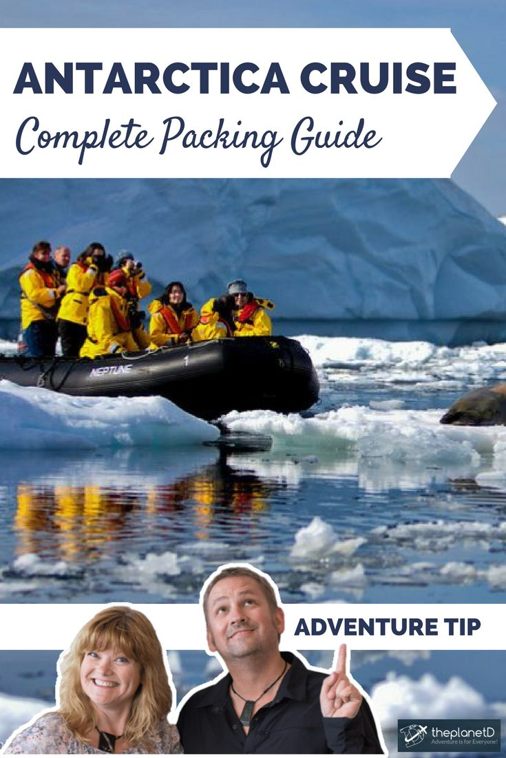 The ultimate packing list for travel to Antarctica. How to prepare for an Antarctica Cruise; practical tips for your voyage to the bottom of the world! | Blog by The Planet D: Canada's Adventure Travel Couple