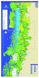 Resultado de imagen para mapa de carretera austral chile