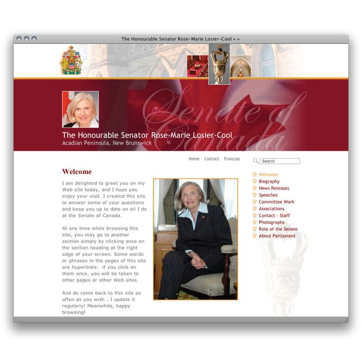 Senate of Canada Web CMS for Senators   Portfolio Sample   MediaBox Communications Inc