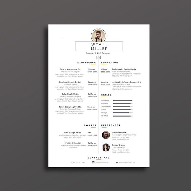 63 best Cv design images on Pinterest | Resume, Resume templates and ...