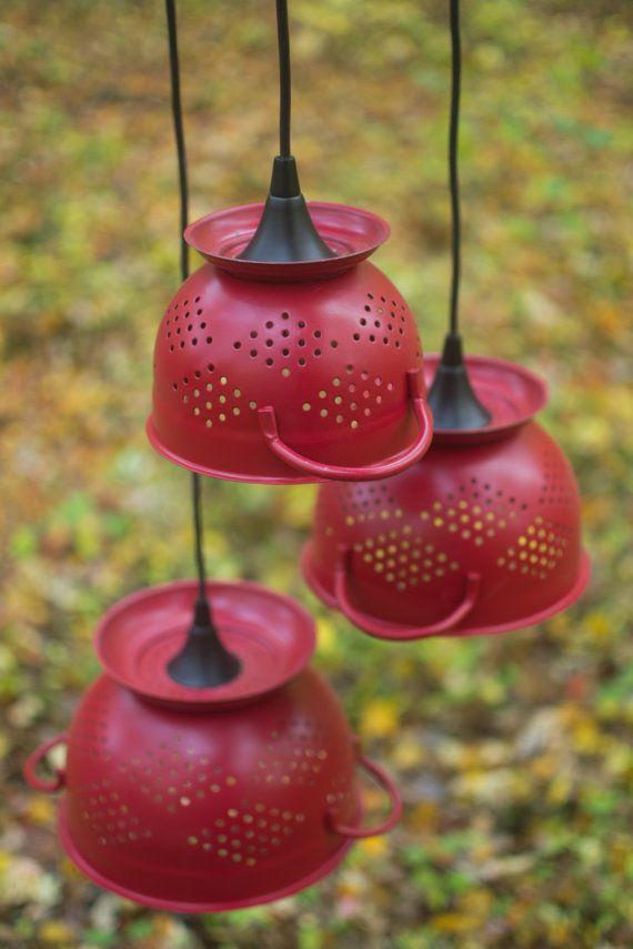 1000 Ideas About Colander Light On Pinterest Light