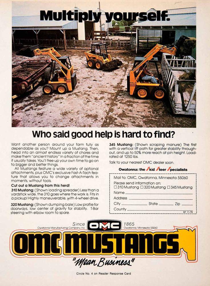 1979 Ad OMC Mustangs Owatonna Minnesota Farm Construction Equipment SF3
