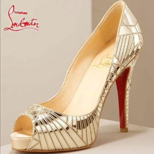 Chaussure Louboutin Pas Cher Chaussures Miroir Doré #highheels