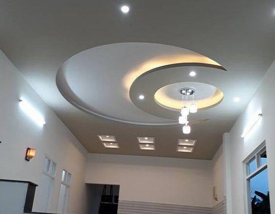 latest gypsum board false ceiling design for living room ...
