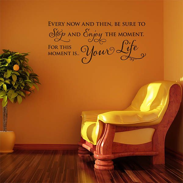 'enjoy the moment' wall sticker quote by aijographics | notonthehighstreet.com