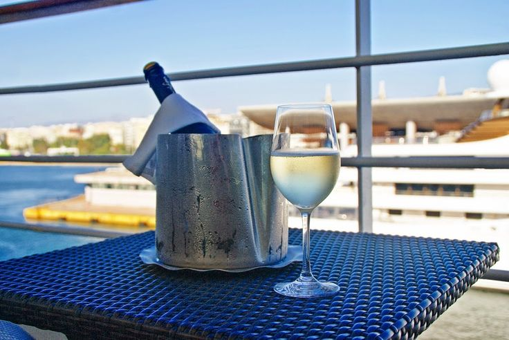 Prosecco on my balcony at Silver Spirit luxury cruise with Silversea