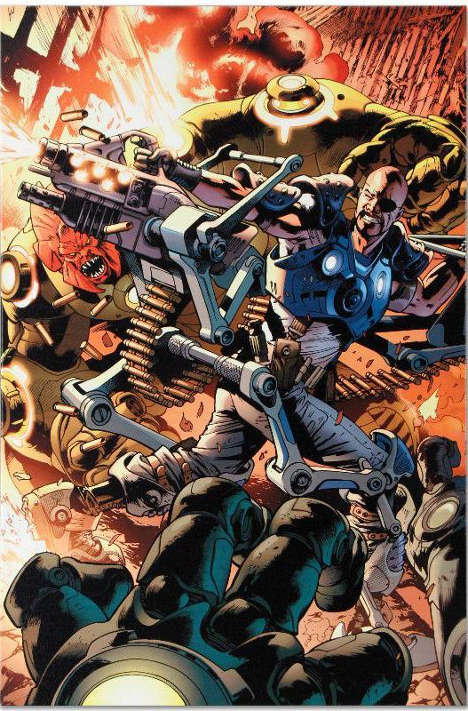 Ultimate Doom #1 - Limited Edition Giclee on Stretched Canvas by Bryan Hitch and Marvel Comis