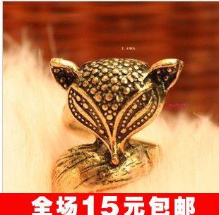 Ес и сша ювелирные изделия аксессуары JD1046 винтажный прекрасный лиса узор венец женщины палец кольца 15 шт. / много