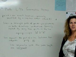 6th Math L 46 Geometric Terms
