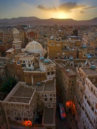 sunrise over Sanaa, Yemen // take me!!!