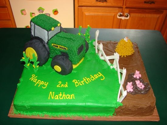 Unique Tractor Cake