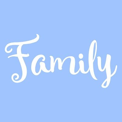 "5"" Family Stencil Word Stencils Template Templates Pattern Background Craft New"