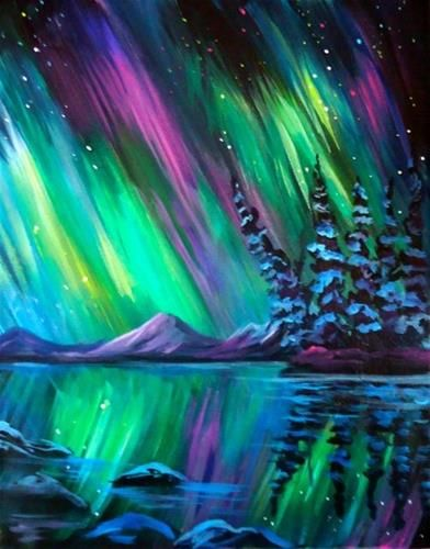Daily Paintworks Quot Northern Lights Demo Quot Original Fine