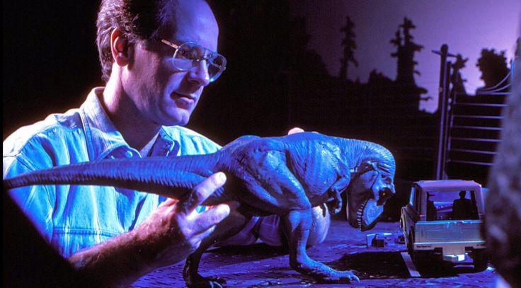 Phil Tippet, publicity still for #JurassicPark (1993)